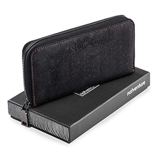 c1c5ea50244252 natventure Damen Geldbörse aus Korkleder mit RFID Schutz Frauen  Portemonnaie Geldbeutel ohne Leder Ökologisch & Vegan