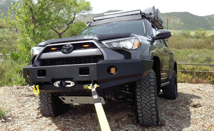 TJM's all new RockCrawler bumper for the 2014 + Toyota 4Runner. The new RockCrawler bumper has been developed from the ground up to incorporate the maximum available approach angle while offering superior protection to the vehicle. The 12,000lb winch capacity is more than enough to recover your vehicle when needed. The RockCrawler series bumpers include mounting as standard for LED rock lights to light up treacherous terrain and enable safe navigation after dark.