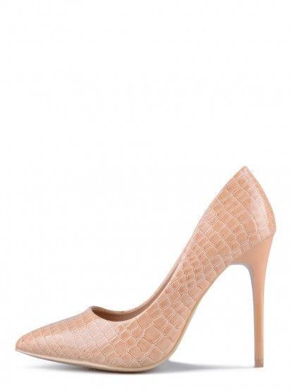 Női Magassarkú cipő TENDENZ - bézs