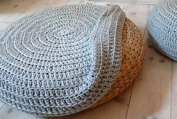 Turn an Ikea pouf into something bespoke with this Crochet Stool   Cool Crochet For Your Modern Home   POPSUGAR Home Photo 20