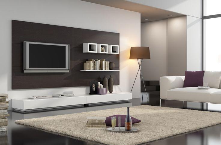 Mueble Modular Moderno Panel Lcd Rack Living Progetto Mobili ...