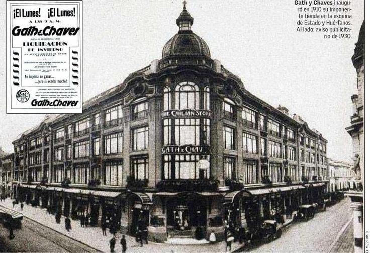 """Es la esquina nor oriente de Calle Estado con calle Huerfanos, en donde hoy esta el Edificio España. El 17 de septiembre de1910 es inaugurada en Santiago de Chile la multitienda Beth, the """"chilean store"""""""
