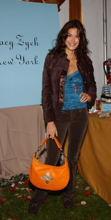 """Teri Hatcher's pick showing off the """"Tracy Zych Hobo Bag"""""""