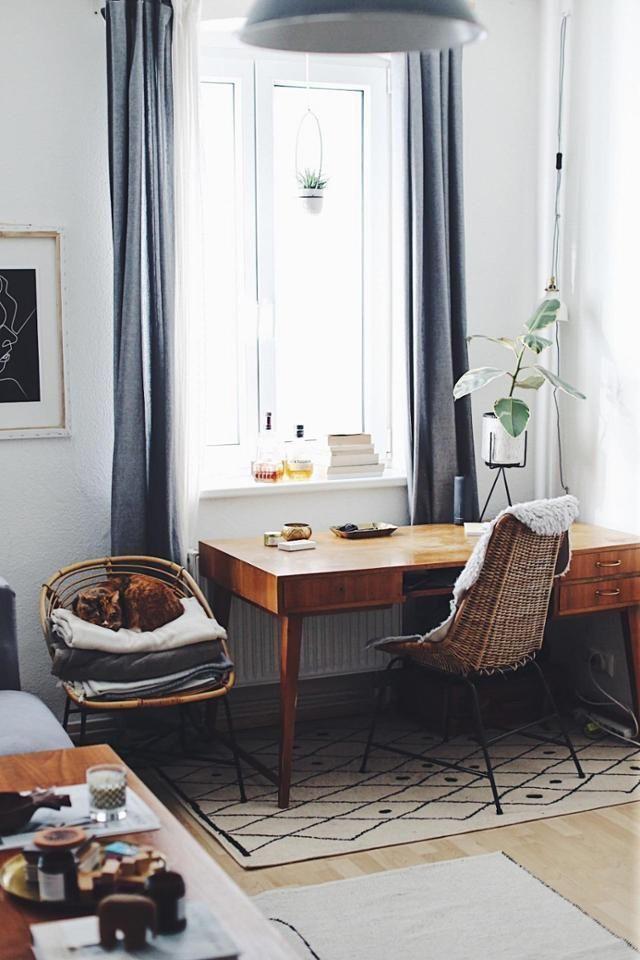 Homeoffice mit Vintage-Flair Wir lieben den Schreibtisch und die