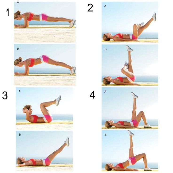 Audrina Patridge's Workout consists of 4 moves for a 6-pack. Two or three times a week, do one set of 20 reps of each move in order without resting then repeat the entire routine once or twice.