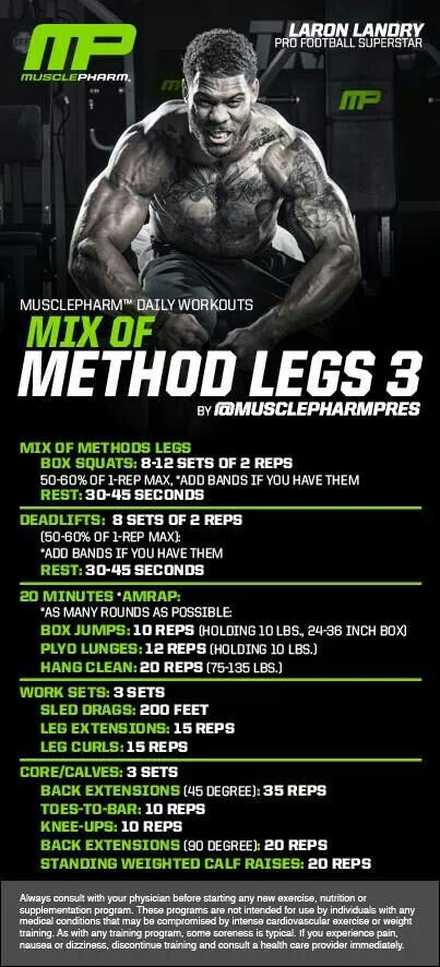 MusclePharm Mix of Method Legs 3