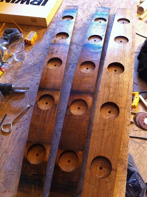 Let There Be Light: Wine Barrel Turned Candle Holder - Old Town Home