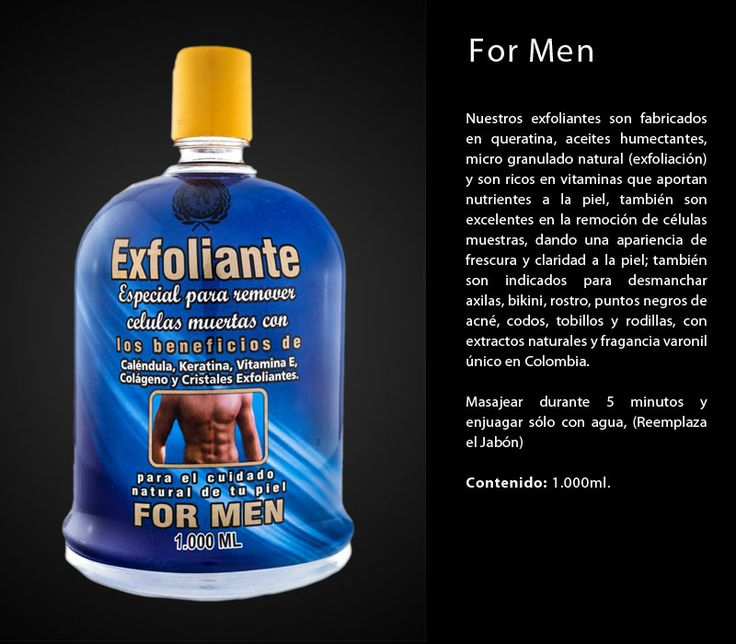 exfoliante for men con fragancia varonil