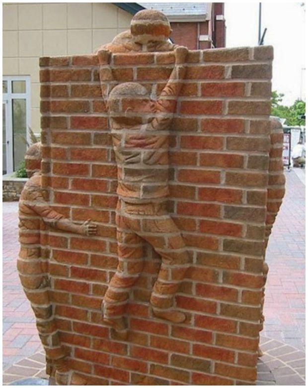 Wall Art For Brick : Best brick art ideas on of steel