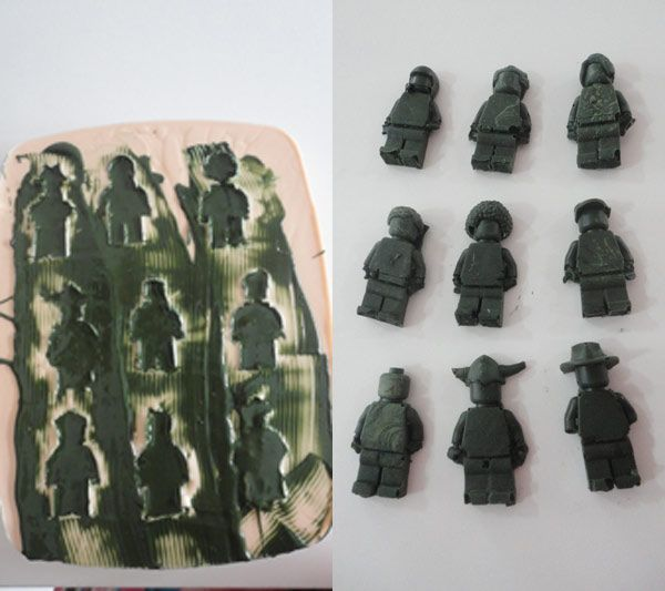 Make a silicone mold: Diy Silicone, Add Chocolates, Lego Men, Lego Chocolates, Chocolates Men, Chocolates Candy, Advice Crafts, Men Diy, Crafts Diy Printables Fonts