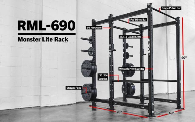 Rml 690 Power Rack In 2020 Power Rack Pull Up Bar Plate Storage
