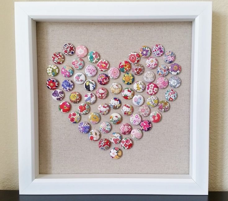 Mad For Fabric - Fabric Button Push Pin Art