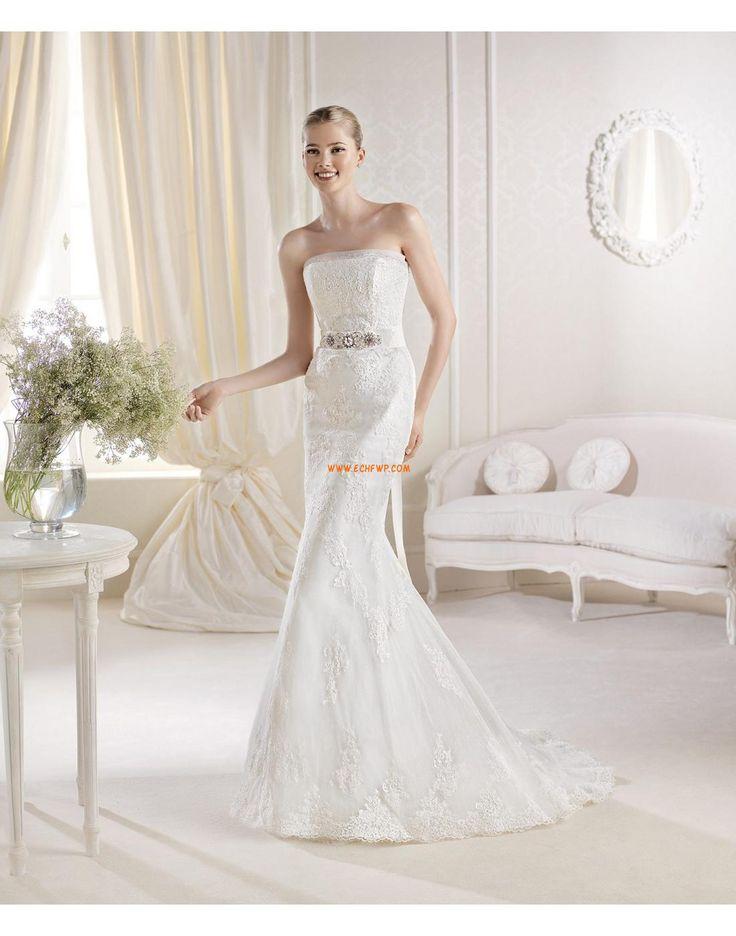 Traîne moyenne Crystal détaillant Zip Robes de mariée de luxe