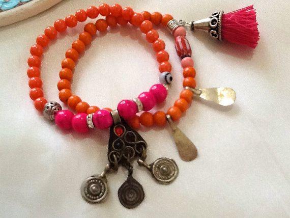 KUCHI bracelet  nomad bracelet  gypsy bracelet  by Nezihe1 on Etsy