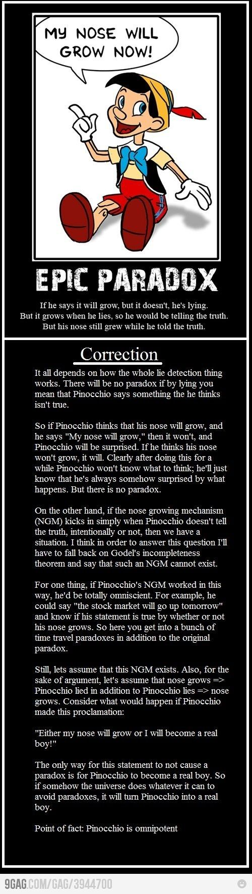 Proof that Pinocchio is omnipotent!
