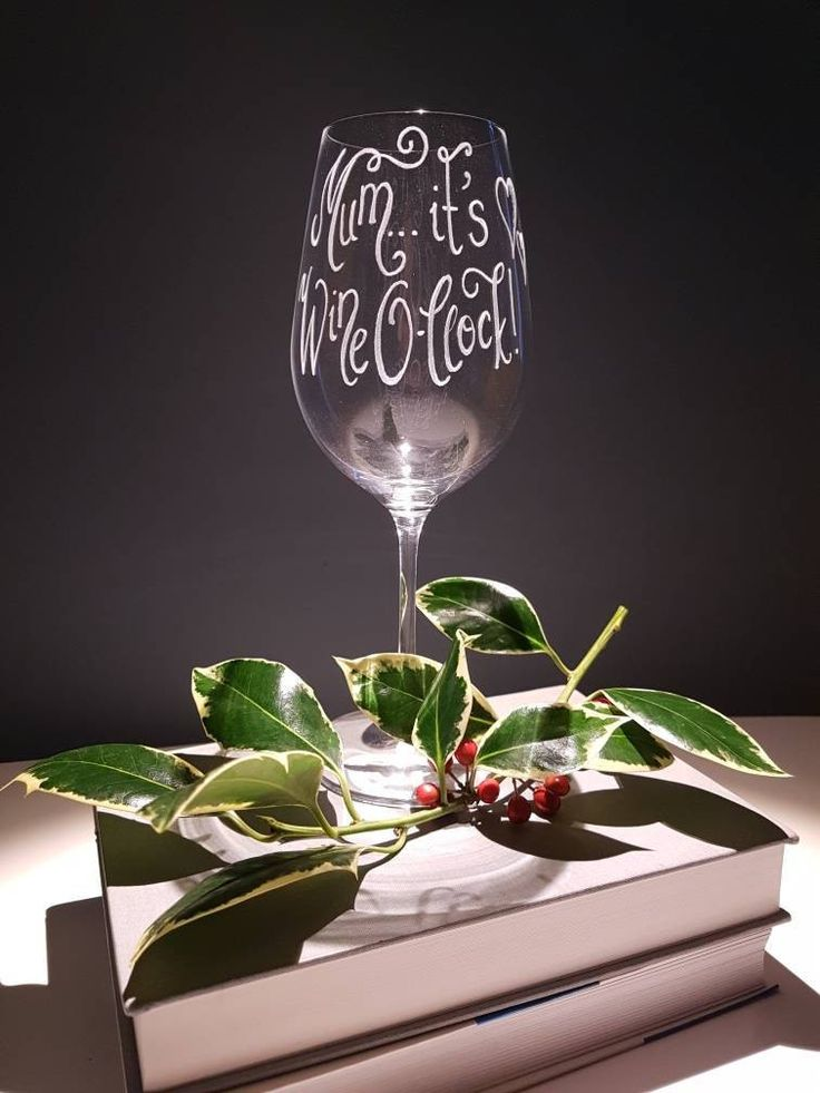 Excited to share the latest addition to my #etsy shop: Personalised Wine Glasses | Christmas Gift Ideas | Custom Wine Glasses | Wine Lovers Xmas Gift | Mum Gift Ideas | Wine O-Clock Glasses | http://etsy.me/2joUUke