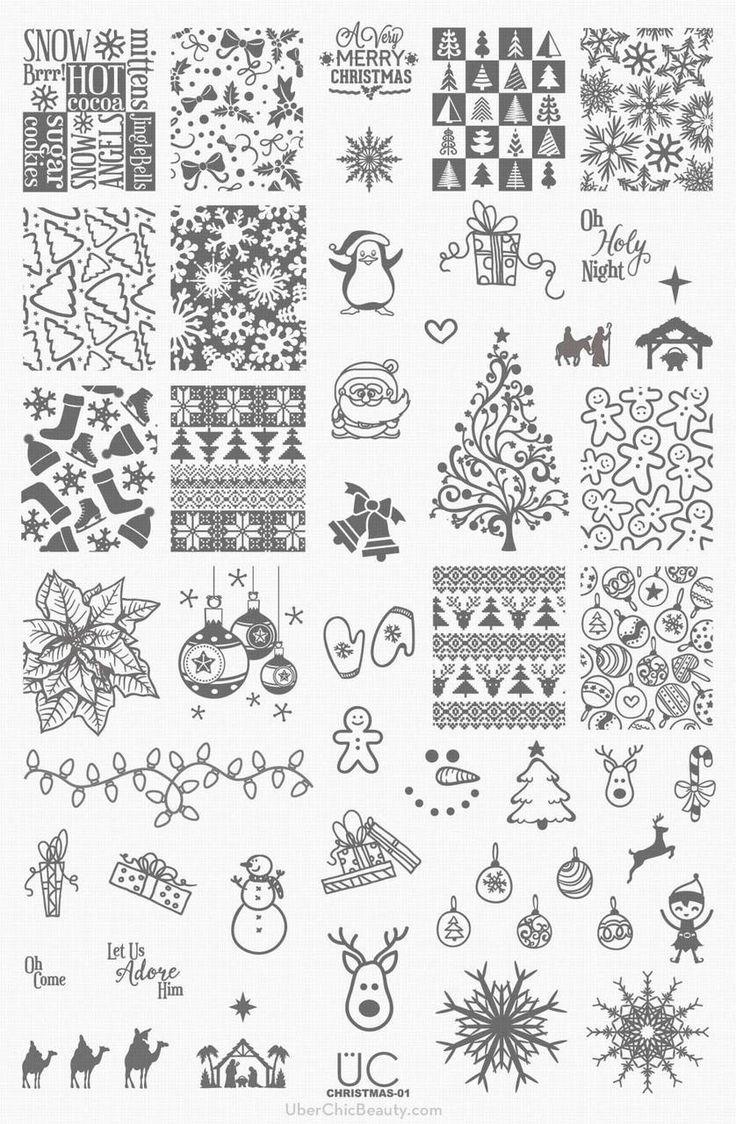Christmas-01 - UberChic Nail Stamp Plates