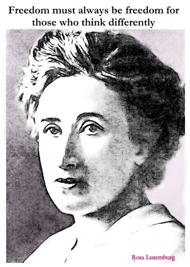 www.leedspostcards.co.uk Rosa Luxemburg quote produced by leeds postcards. Buy postcards online from leeds postcards #feminist #feminism #freedom