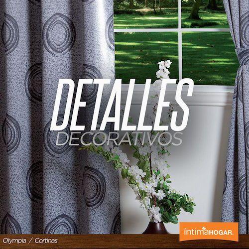 Detalles decorativos cortinas olympia. Una de las hot-trends en decoración contemporánea son las cortinas con prints. Si lo que buscas es lograr un ambiente acogedor y sencillo, escoge alguno con colores claros, estilo escandinavo o con arabescos.