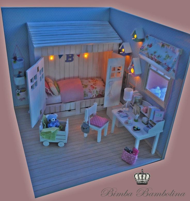 Amigurumi piccolo tutti frutti: OOAK Diorama Blythe Shabby Houses