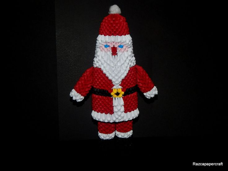 1807 best images about 3d modular origami on pinterest for Make origami santa claus