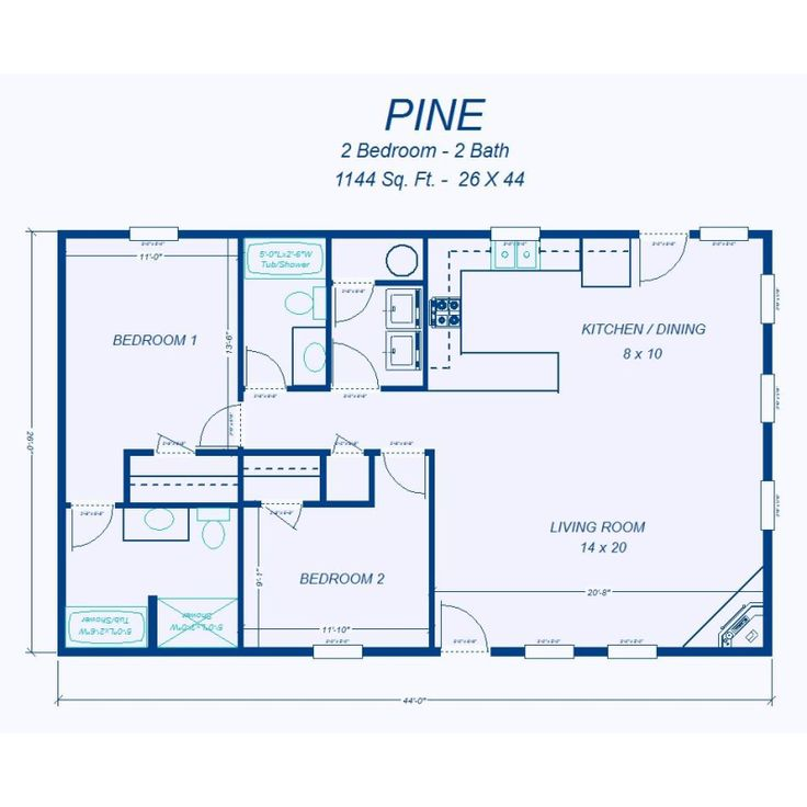 1000 ideas about 2 bedroom house plans on pinterest for Ready built homes floor plans