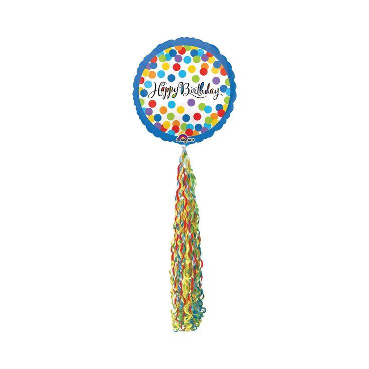 Happy Birthday Streamer Airwalker Foil Balloon,