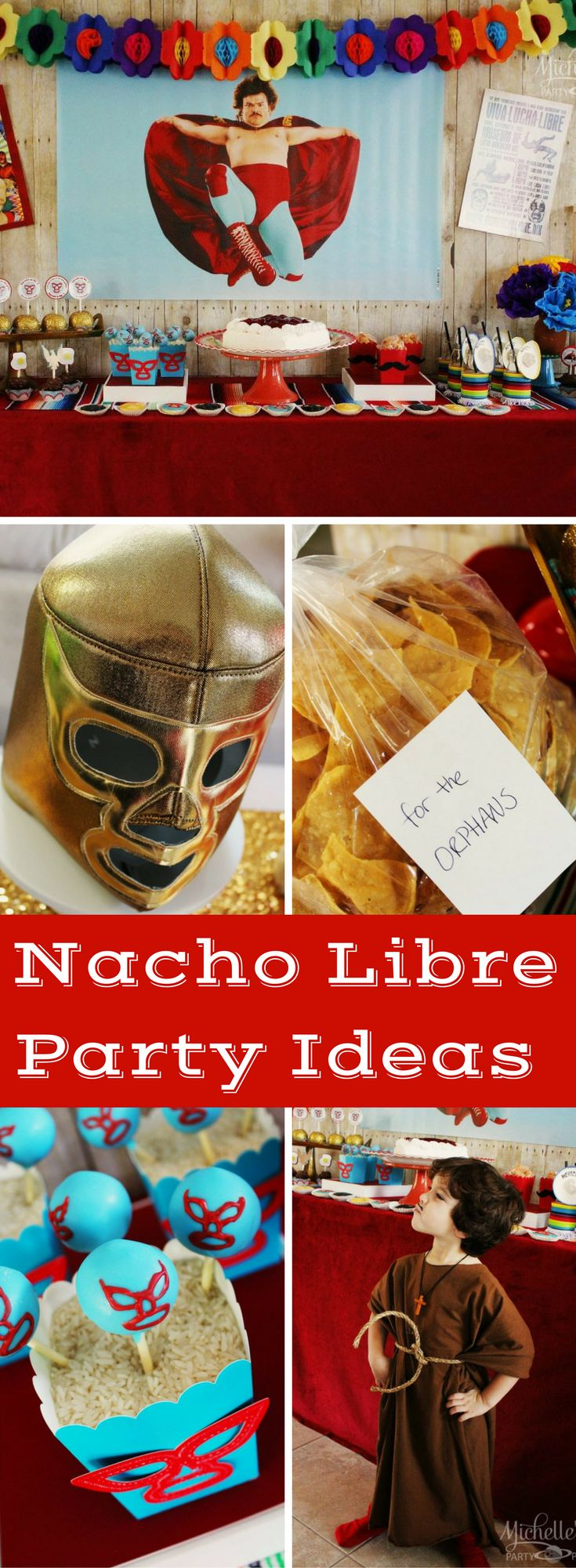 Nacho Libre Party Ideas - A Nacho Libre Party for a father's day celebration. A colorful mexican themed fiesta with ideas for any mexican holiday or themed birthday party.