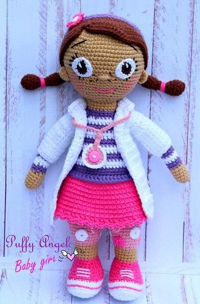 knitted plush doll doctor
