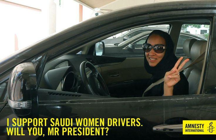We support Saudi women drivers!