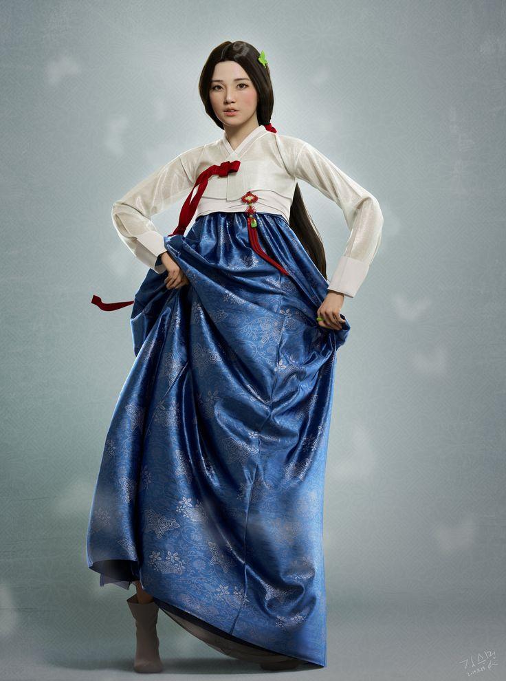 ArtStation - Korean traditional dress, seungmin Kim