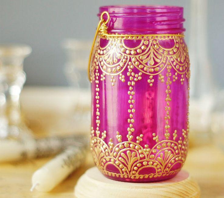 Best 25+ Decorated jars ideas on Pinterest   Glittered ...