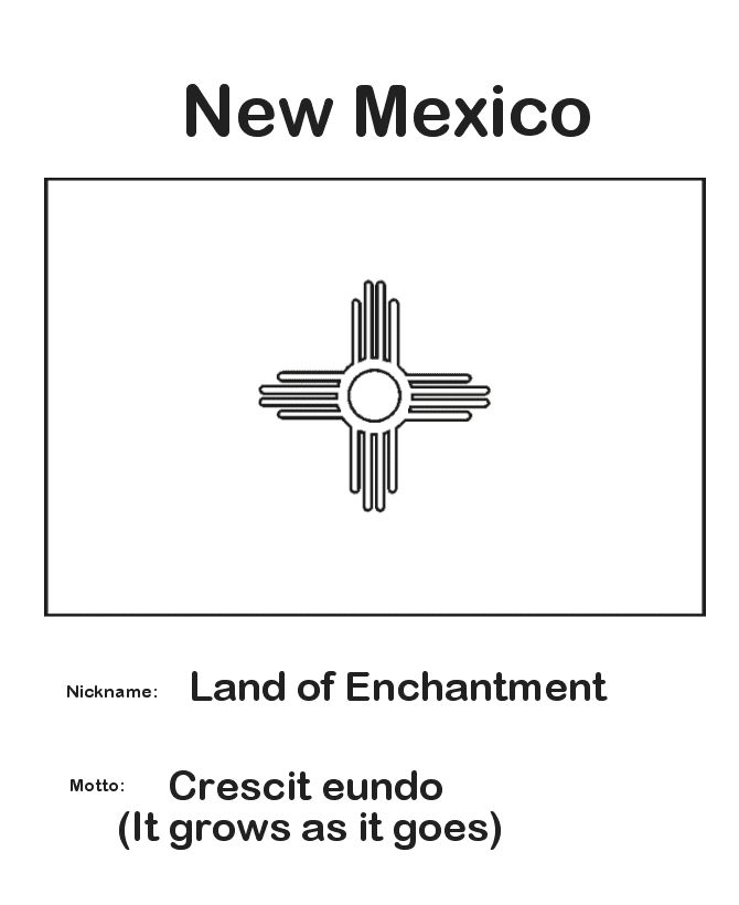 State flag of new mexico coloring page coloring page for New mexico state symbols coloring pages