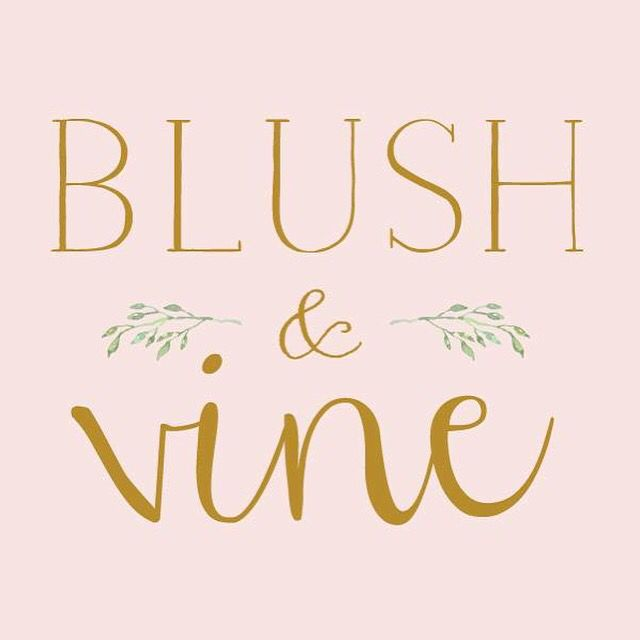 Newest logo design for Saskatoon's Blush and Vine Floral Studio by Defining Moments Stationery :: Niagara, Ontario