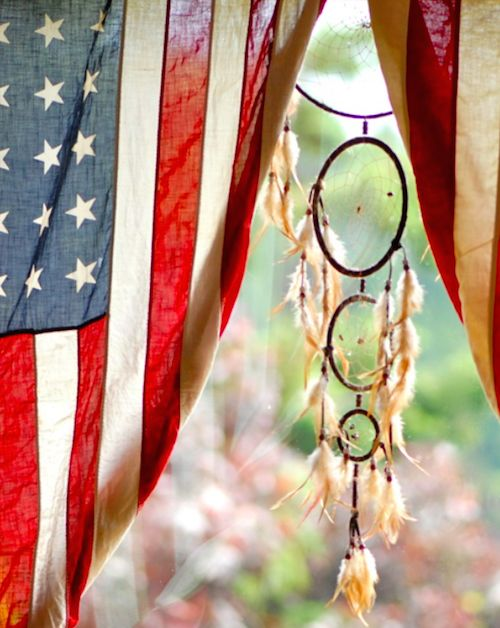 american flag + dreamcatcher.  home - drip cult - a blog about men's fashion, food, music, art, & lifestyle