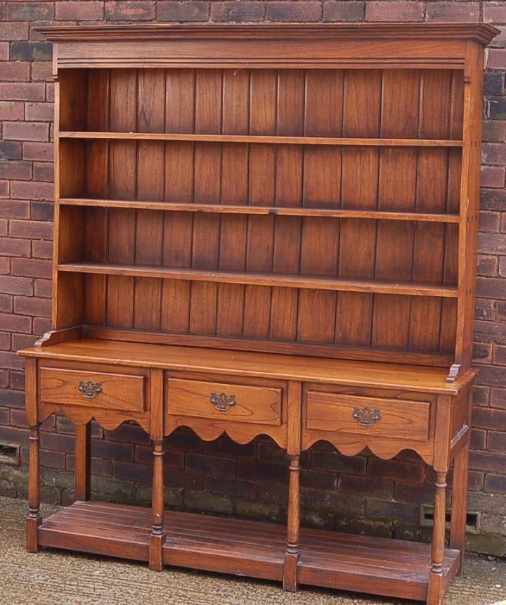 Rustic Farmhouse Solid Oak Welsh Dresser With Potboard