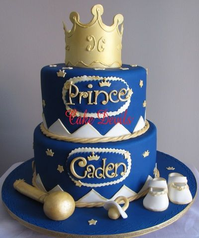 Prince baby shower cake