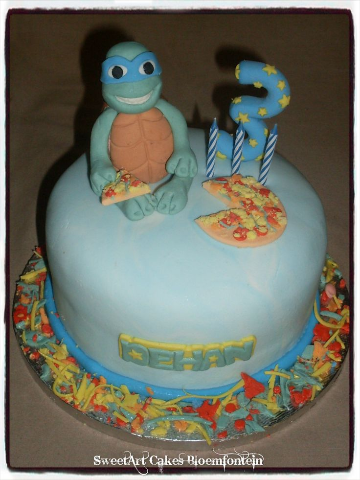 Mini Ninja Turtle cake For more information & orders email sweetartbfn@gmail.com or call 0712127786.  Follow me on https://www.pinterest.com/SweetArtCakeBfn/ or Facebook https://www.facebook.com/sweetart.bloemfontein (Toppers available for sale separately)