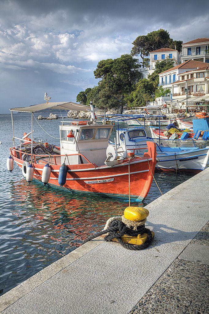 Waterfront in Skiathos, Greece