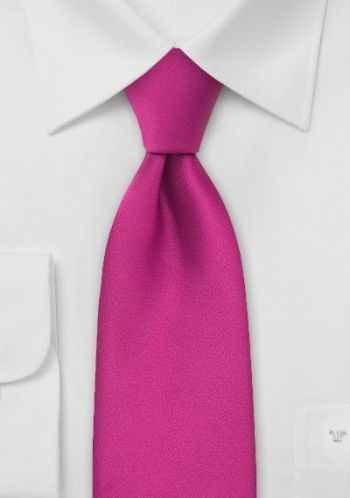 Moulins Krawatte magenta-rot einfarbig