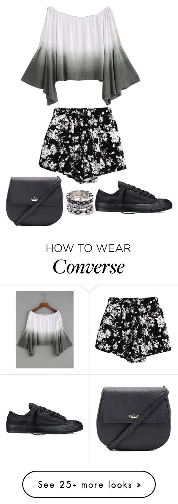 """Untitled #8905"" by beatrizibelo on Polyvore featuring Chicnova Fashion, Kate Spade and Converse"