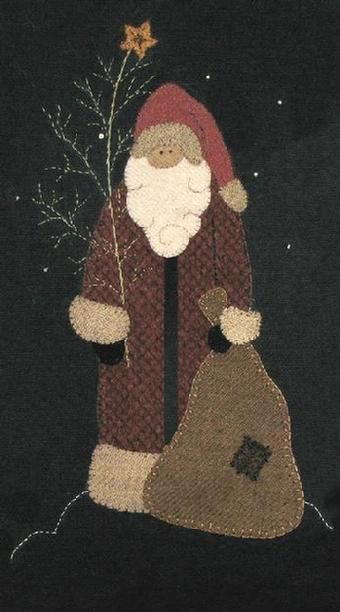 Cotton Tales Patterns - North Woods Santa pattern $8