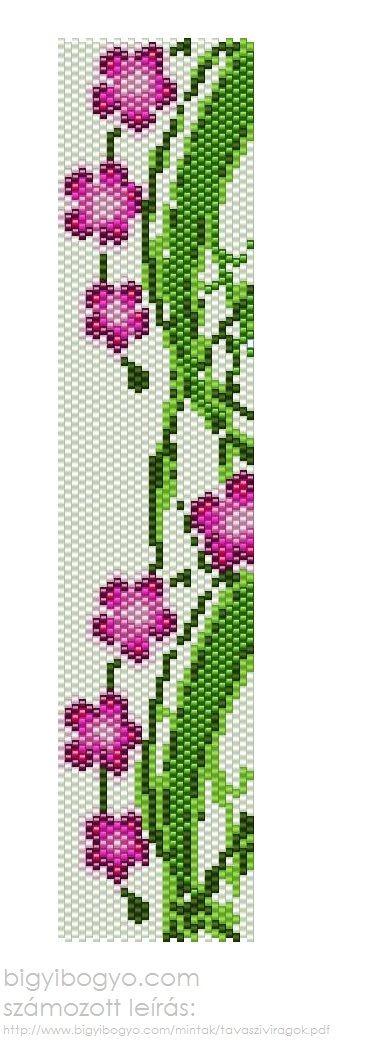 'Spring' peyote bracalet pattern