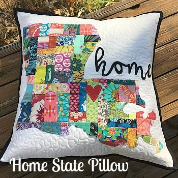 Home State Pillow Tutorial (My Quilt Infatuation)