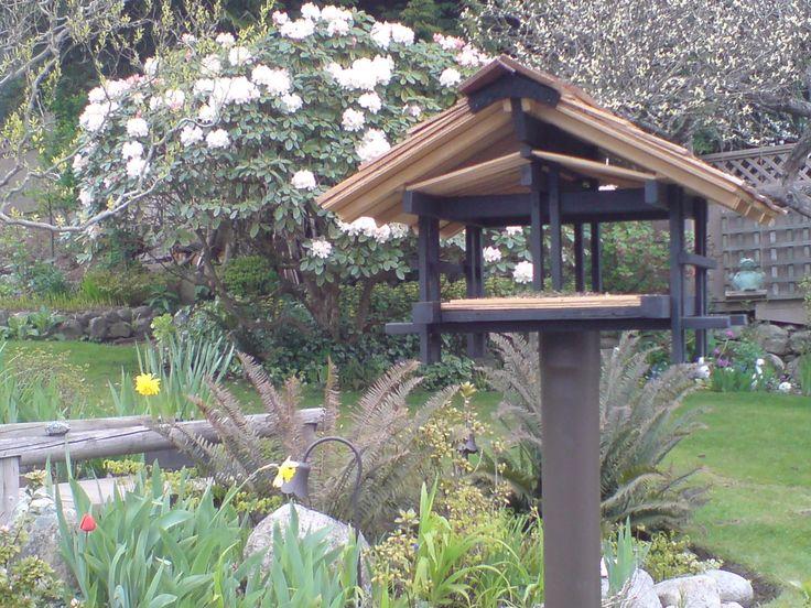 16 best images about garden ideas on pinterest fence - Bird feeder garden designs ...