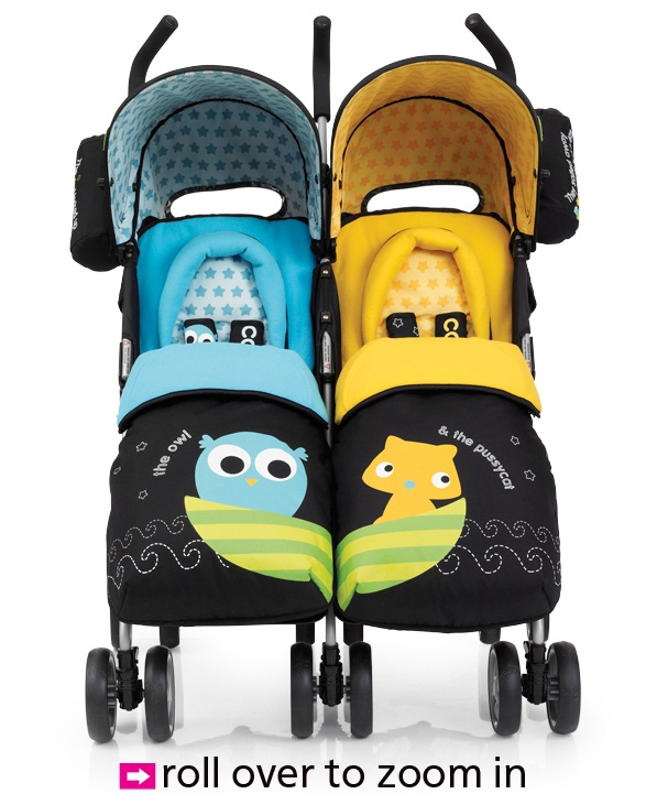 Cosatto You 2 Twin Pushchair Owl & Pussycat only €305.78