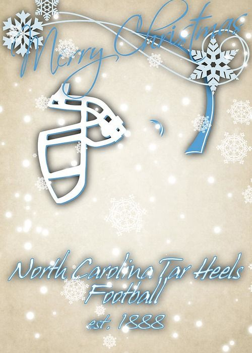 North Carolina Tar Heels Greeting Card featuring the photograph North Carolina Tar Heels Christmas Card by Joe Hamilton