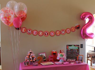 Richly Blessed: Emery Turns TWO! {Elmo Birthday Party}