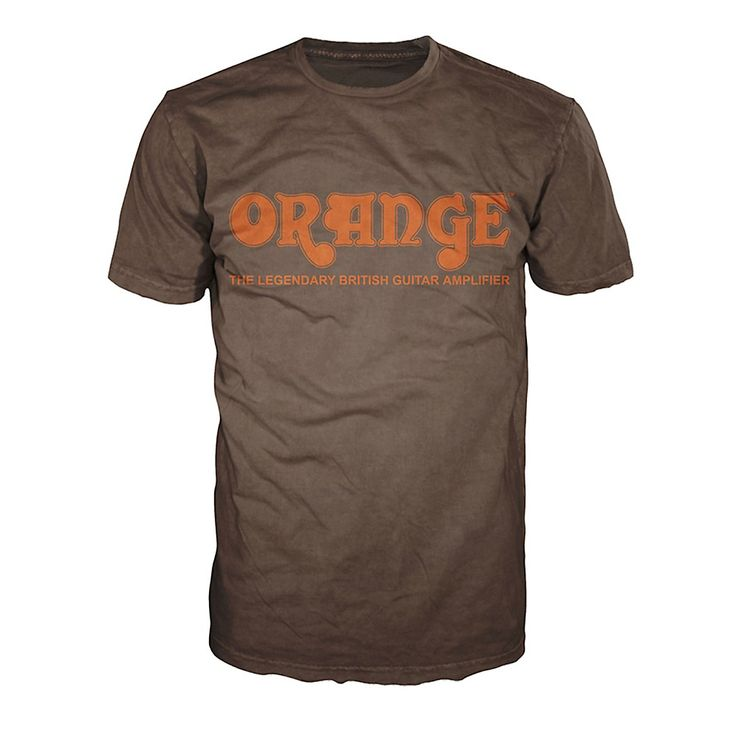 Orange Amplifiers Classic T-Shirt Brown Medium