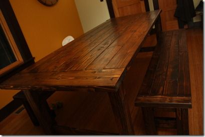 diy dinning room table and benches